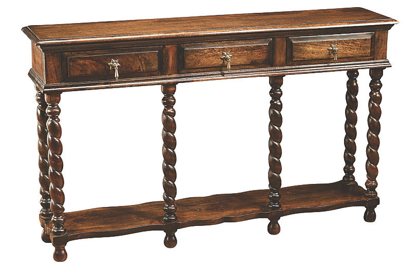 Leigh Twist Console, Pecan