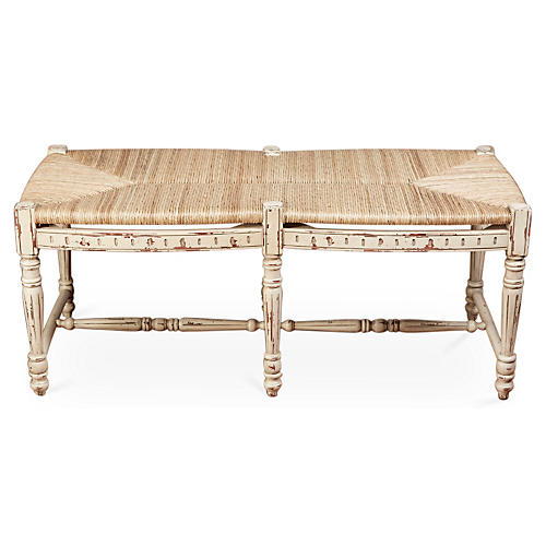Betsy Bench, Distressed Beige