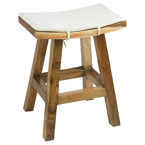 Anzu Counter Stool, Ivory Linen