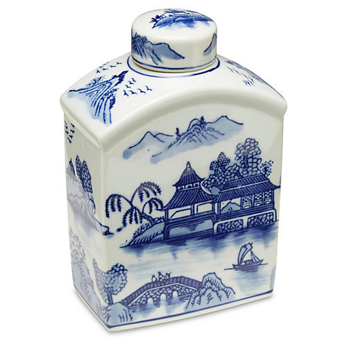 "8"" Odile Bottle, Blue/White"