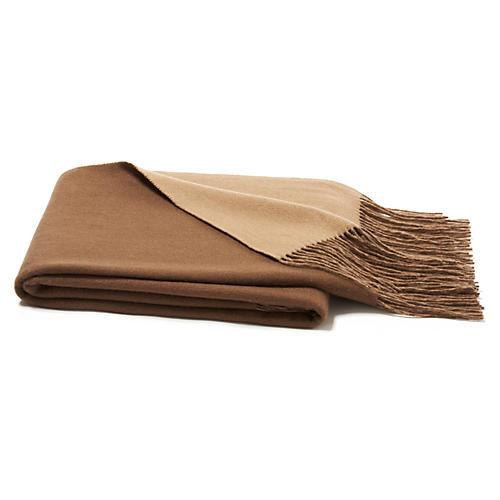 Reversible Waterweave Throw, Sand/Desert