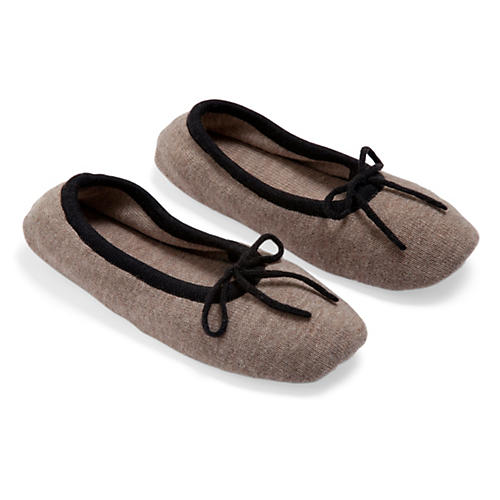 Merino Wool Slippers, Sand