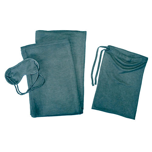 Cashmere-Blend Travel Set, Lake