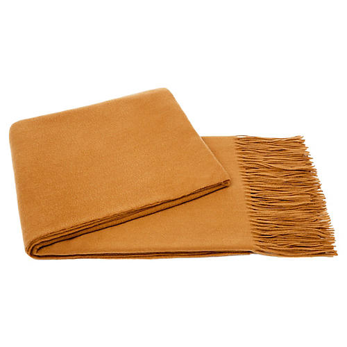 Solid Cashmere Throw, Nubuck