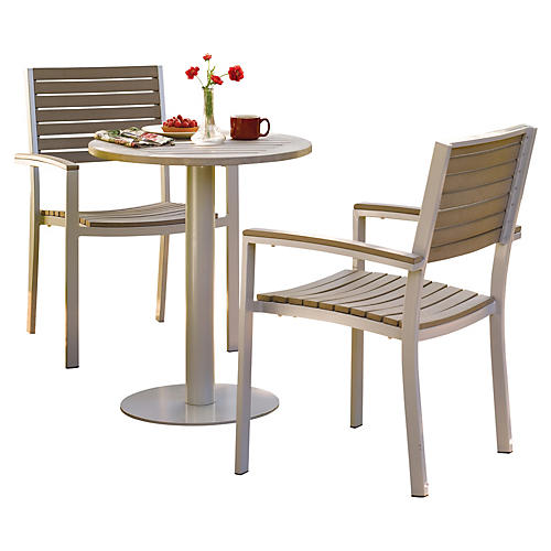 Amanda 3-Pc Bistro Table Set