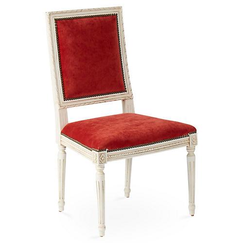 Exeter Side Chair, Cinnabar Velvet