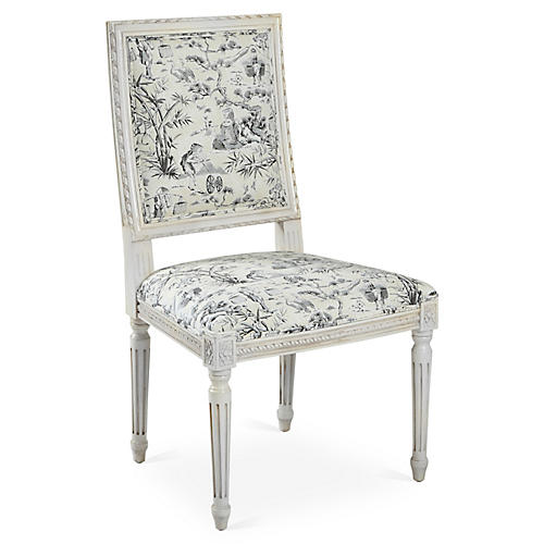 Exeter Side Chair, Black Toile
