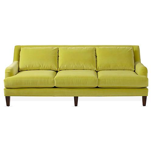 Merrimack Sofa, Chartreuse Velvet
