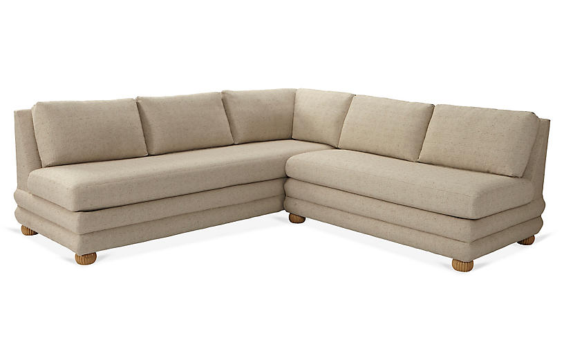 Millbrae Right-Facing Sectional, Barley Crypton