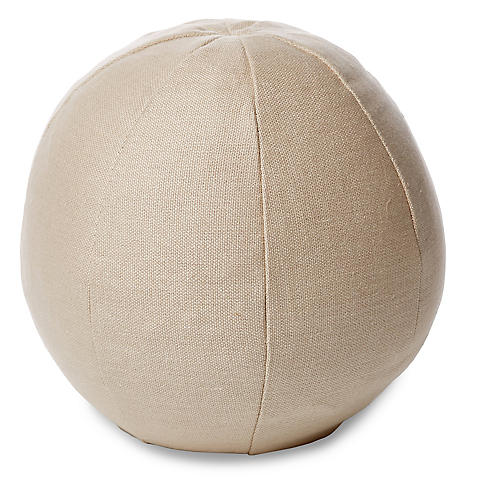 Emma 12x12 Ball Pillow, Dune Linen