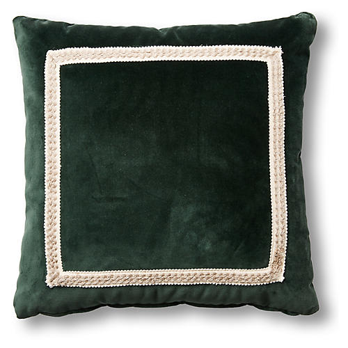 Mallory 19x19 Pillow, Forest Velvet