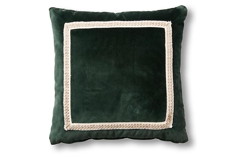 Mallory 19x19 Pillow, Forest Velvet