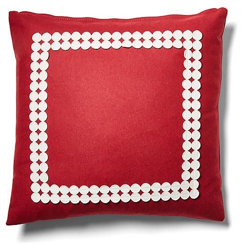 Holly 19x19 Pillow, Garnet