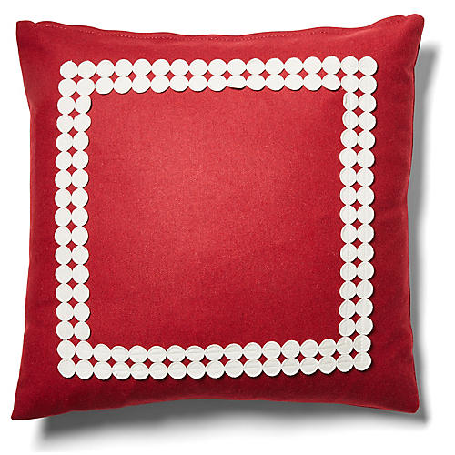 Holly 19x19 Pillow, Garnet