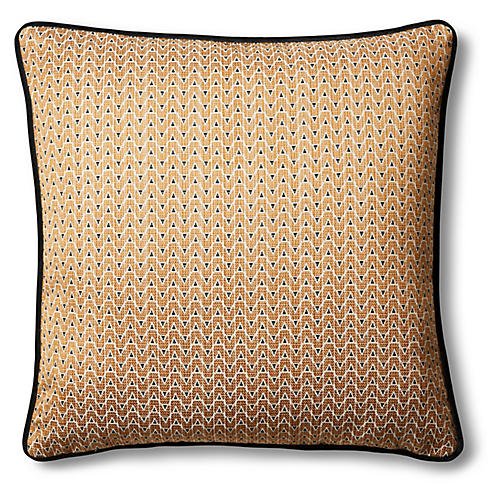 Mia 19x19 Pillow, Bronze/Black
