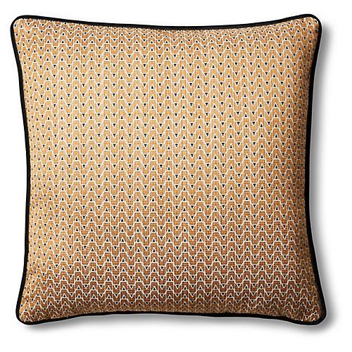 Mia 19x19 Pillow, Bronze/Black