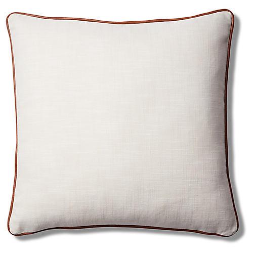 Calda Pillow, Ivory/Saddle