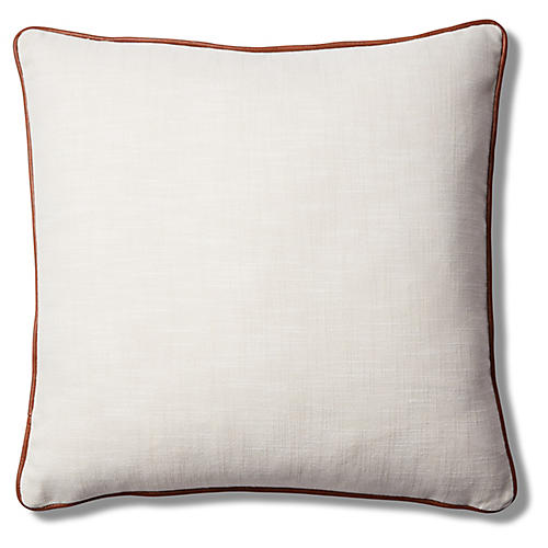 Calda Pillow, Ivory/Saddle