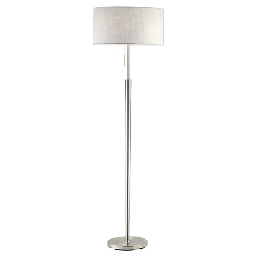 Hayworth Floor Lamp, Satin Steel