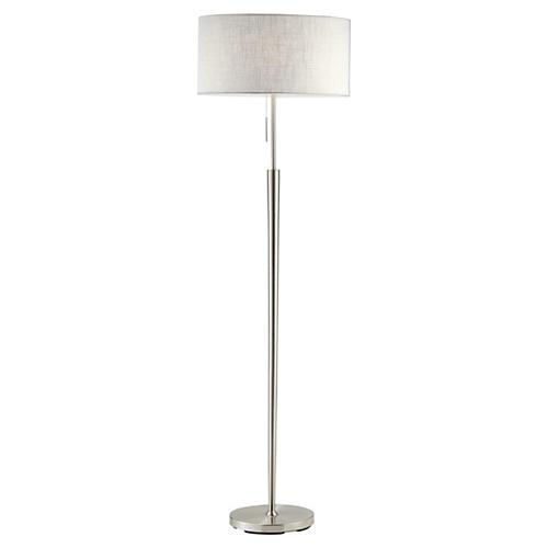 Hayworth Floor Lamp, Satin Steel