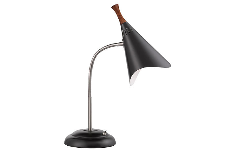 Draper Gooseneck Desk Lamp, Black