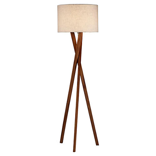 Brooklyn Floor Lamp, Walnut