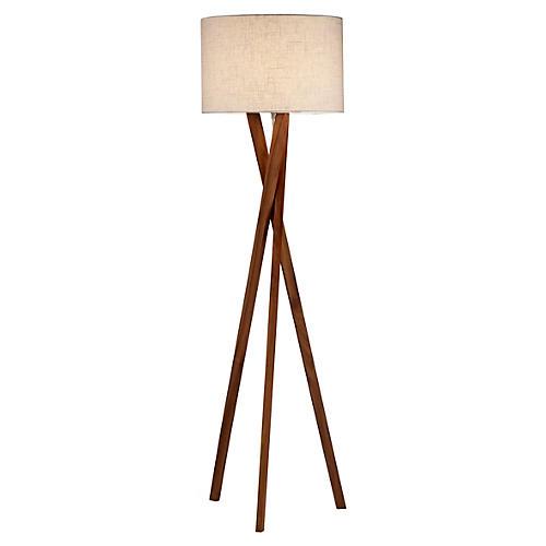 Brooklyn Floor Lamp, Walnut
