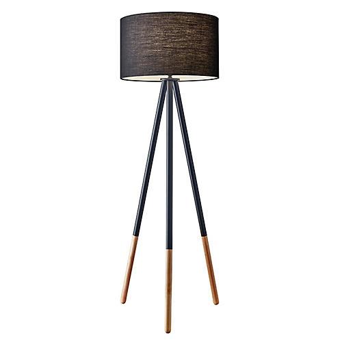 Louise Floor Lamp, Black