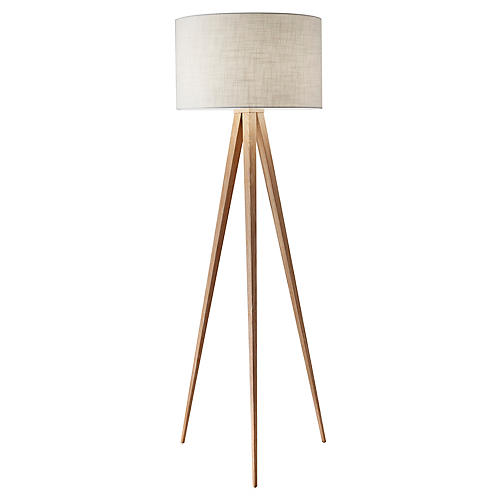 Director Floor Lamp, Natural