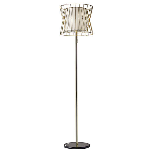 Sarai floor lamp brushed gold