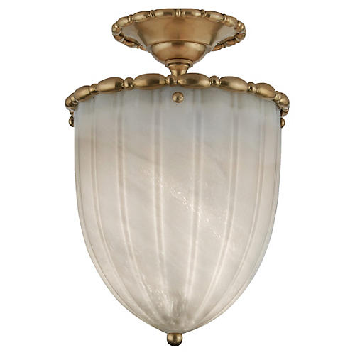 Rosehill Elongated Semi-Flush Mount, Brass