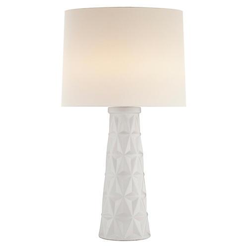 Aligre Table Lamp, Plaster White