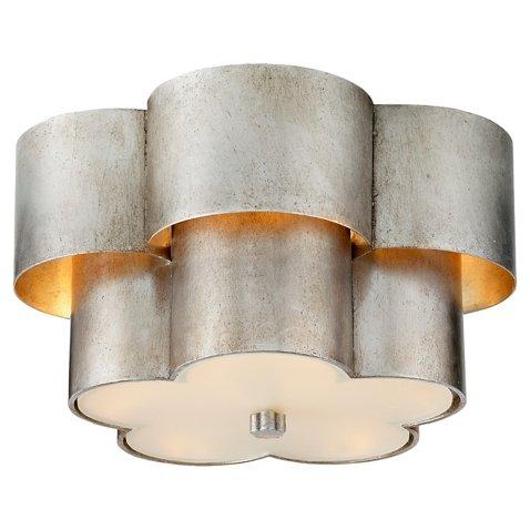 Arabelle flush mount burnished silver leaf flush mounts flush mounts ceiling lights fans lighting one kings lane