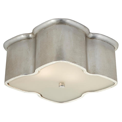 Bolsena Clover Flush Mount, Burnished Silver Leaf