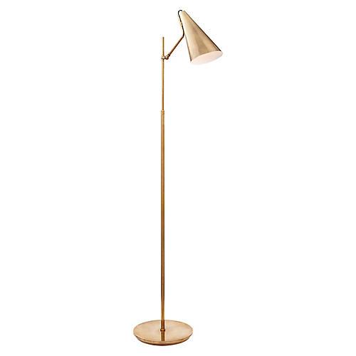 Clemente Floor Lamp, Antiqued Brass