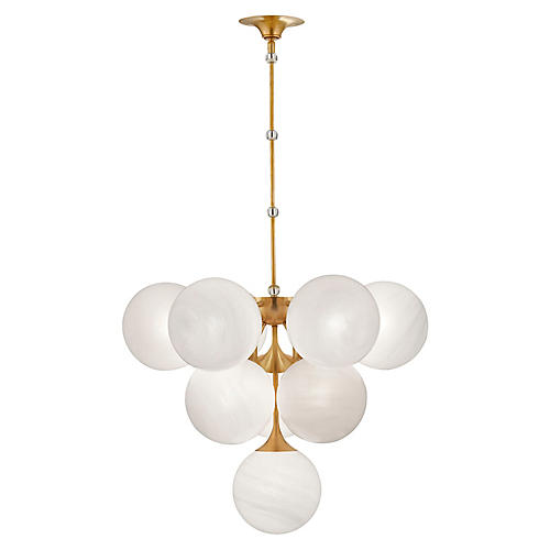 Cristol Tiered Pendant, Antiqued Brass