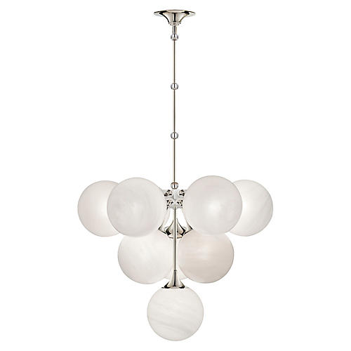 Cristol Tiered Pendant, Polished Nickel