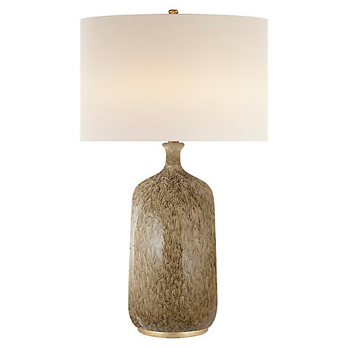 Culloden Table Lamp, Marbleized Sienna