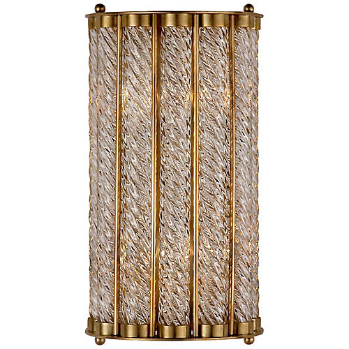 Eaton Sconce, Antiqued Brass