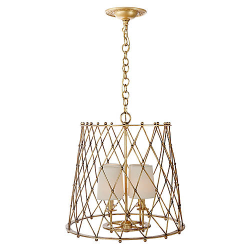 Edgerly Hanging Shade Pendant, Gild