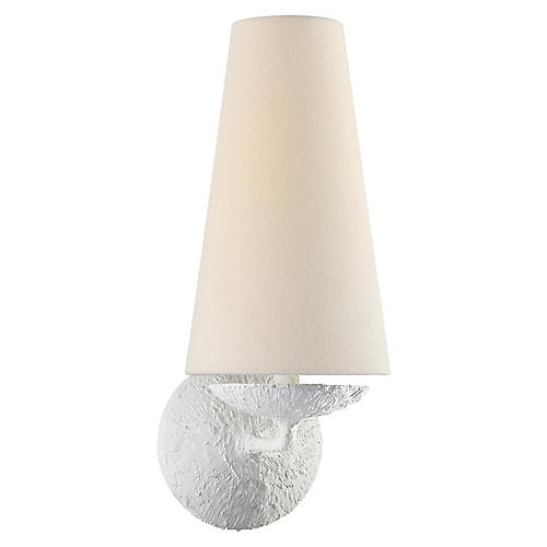 Fontaine Single Sconce, Plaster White