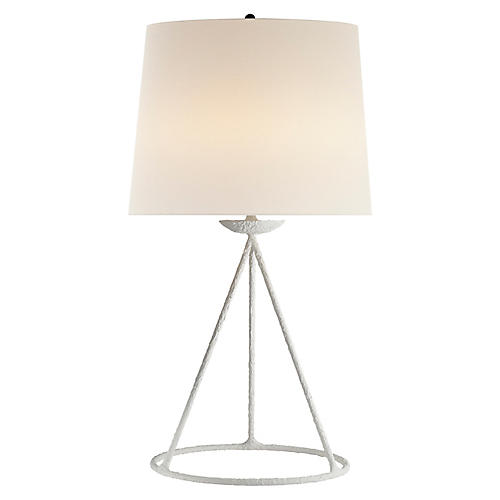 Fontaine Table Lamp, Plaster White