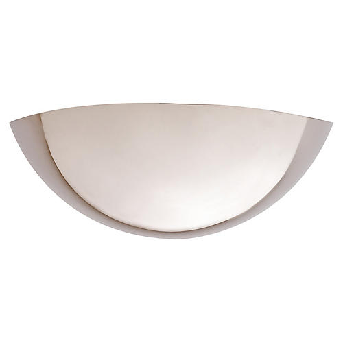 Iriving Sconce, Polished Nickel
