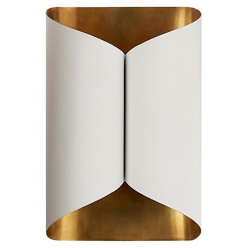 Selfoss Sconce, Plaster White/Gild