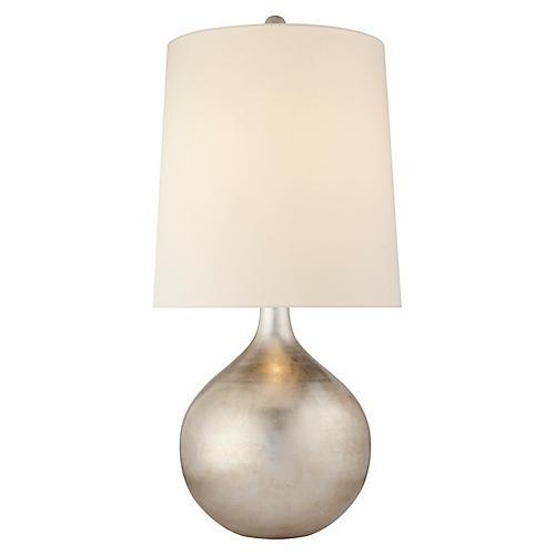 Warren Table Lamp, Burnished Silver Leaf