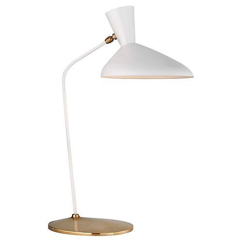 Austen Large Offset Table Lamp, White