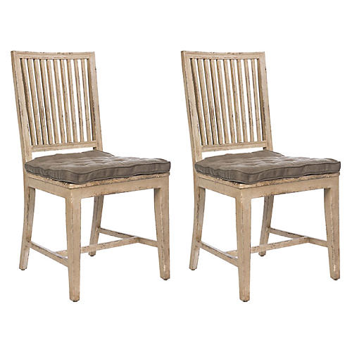 Distressed Gray Staffan Chair, Pair
