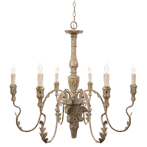 Charlemagne Chandelier, Rustic Gray