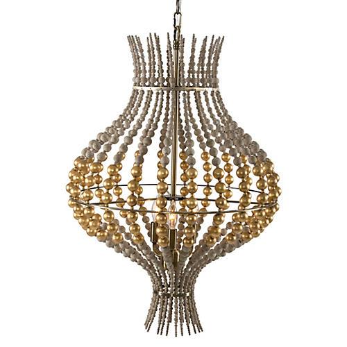 McKay 3-Light Pendant, Gold/Gray