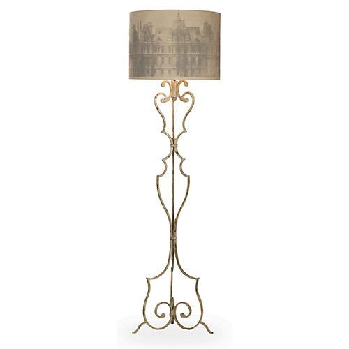 Heath Floor Lamp, Antiqued Gray